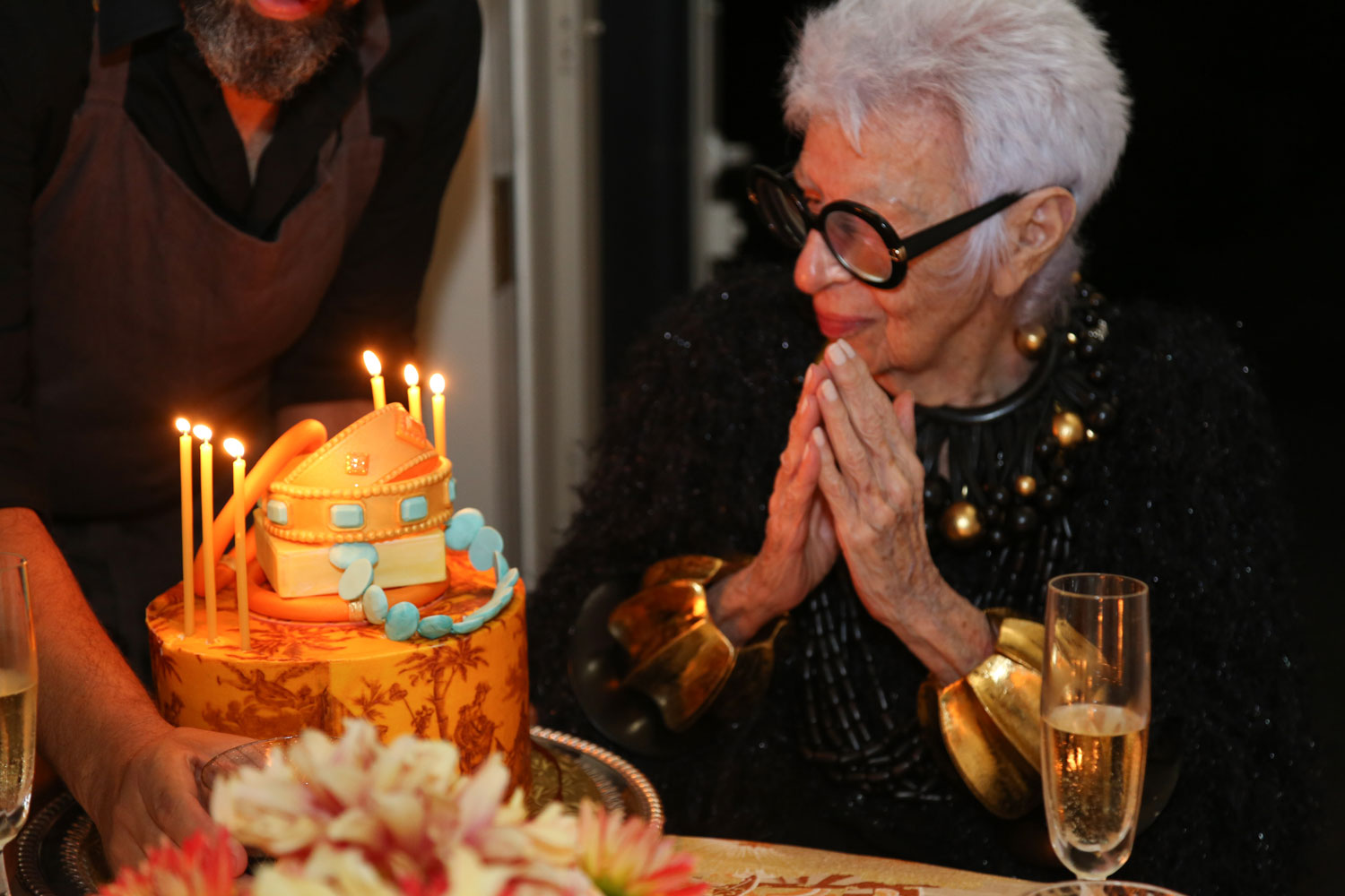 This Though Was Not A Big Bash But Small Intimate Dinner At Our Home With Fashion Icon Iris Apfel On Her 95th Birthday