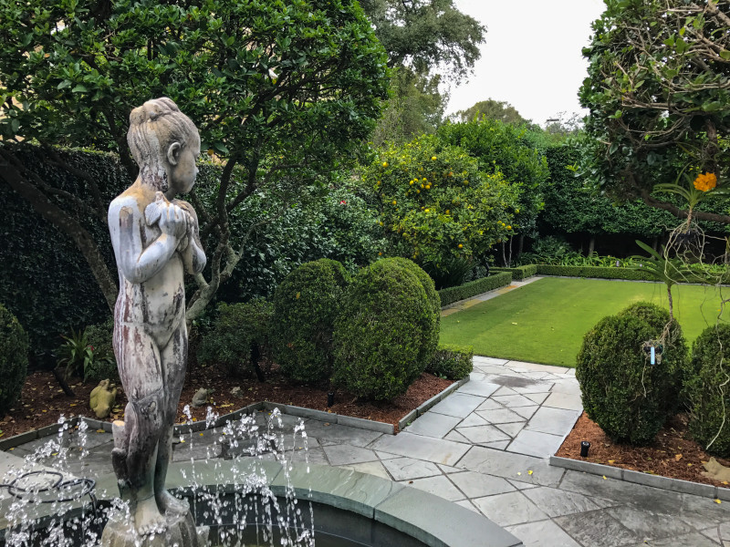 the other no surprise that it is my favorite her quadrant parterre in the patio that opens to the houses garden room