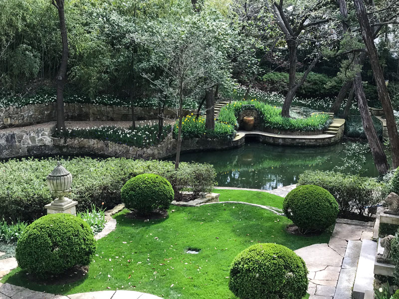 ... Most Beguiling Gardens And Grounds. Poised On The Edge Of Turtle Creek,  Singular Attention Has Been Given To Optimizing The Topography Of This  Property ...