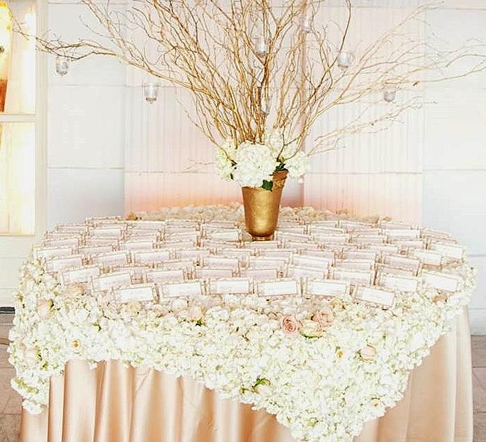 flower cloth name cards