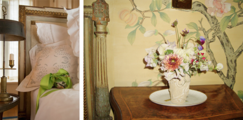 Guest Room Present and Flowers