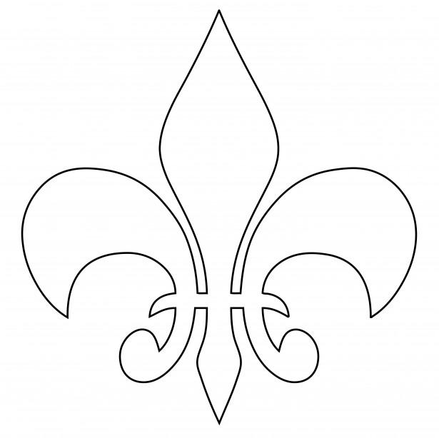 fleur-de-lys-outline
