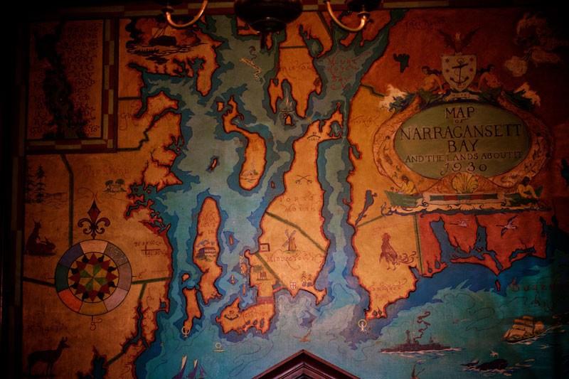 Map of Narragansett Bay